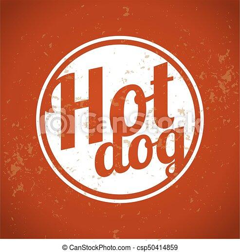 art, agrafe, vendange, -, chien, chaud - csp50414859