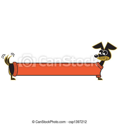 art, chien, agrafe - csp1397212