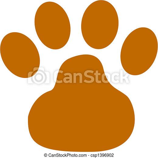 art, chien, agrafe, patte - csp1396902