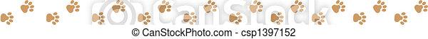art graphique, agrafe, patte, chien, frontière - csp1397152