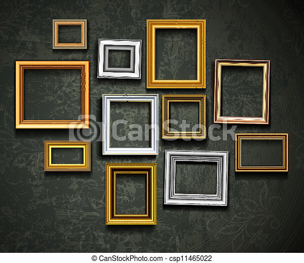art, ph, vector., cadre graphique, gallery., photo - csp11465022