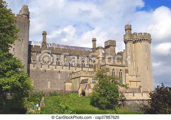 arundel, angleterre, château - csp37887620