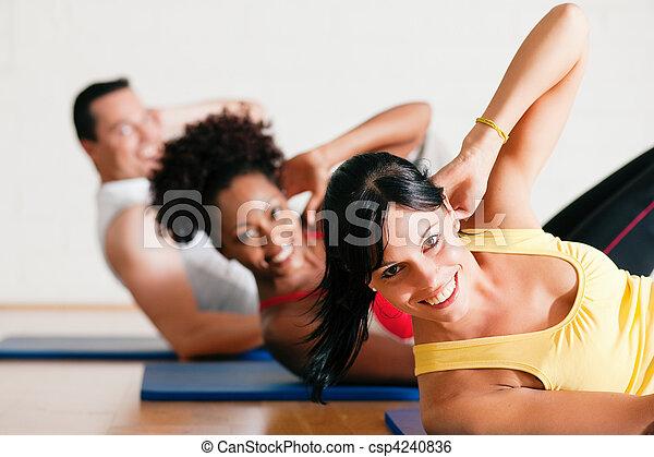 assied-augmente, gymnase, fitness - csp4240836