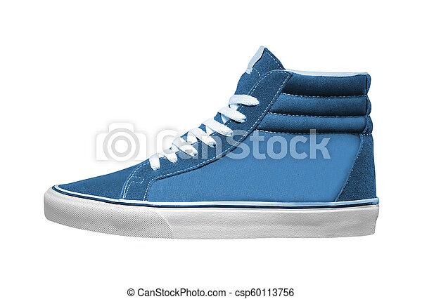 athlétique, blanc, chaussure, isolé - csp60113756