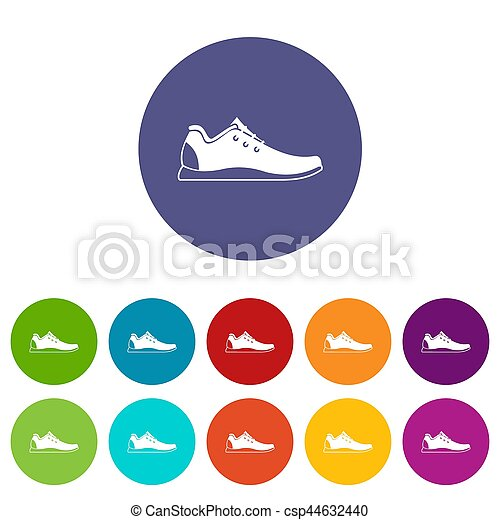 athlétique, ensemble, chaussure, icônes - csp44632440