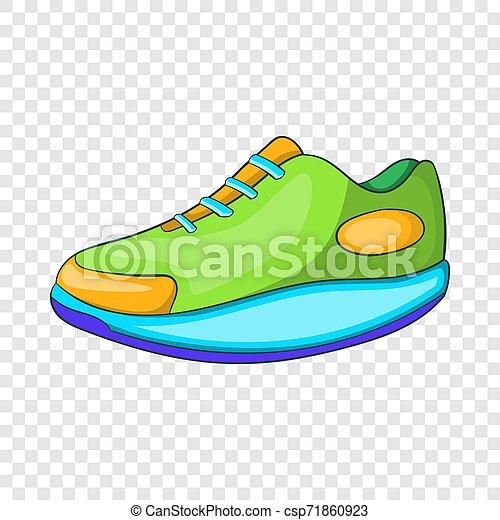 athlétique, icône, style, chaussure, dessin animé - csp71860923