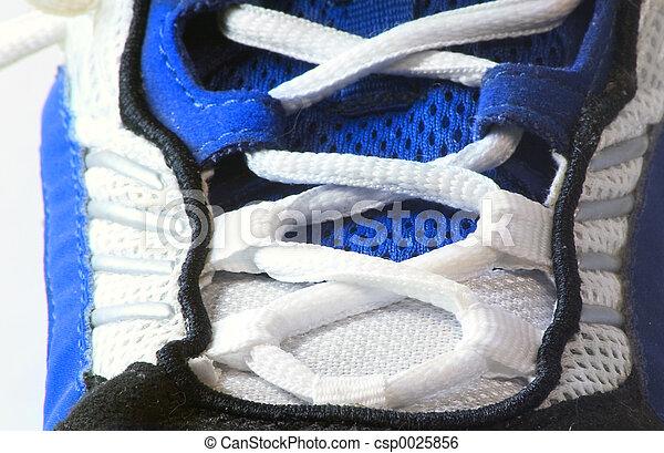 athlétique, macro, chaussure - csp0025856