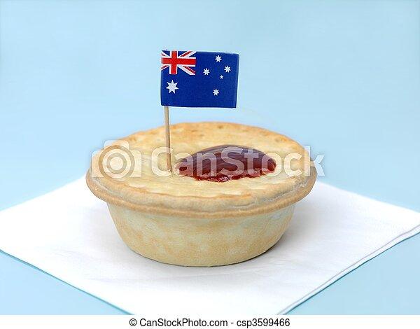 australien, tarte viande - csp3599466