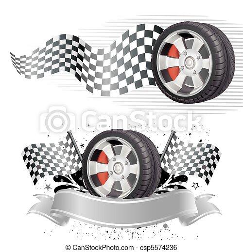 automobile, élément, course - csp5574236