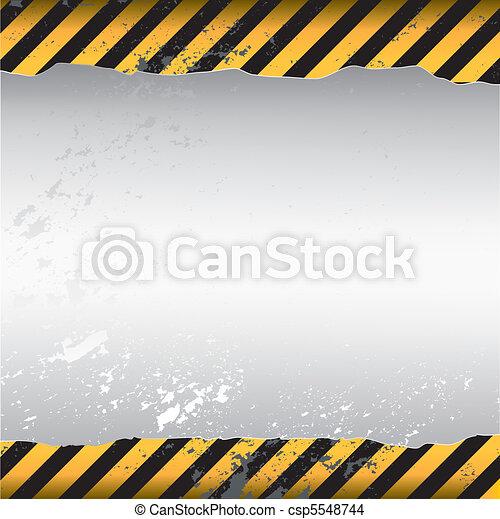 avertissement, fond - csp5548744