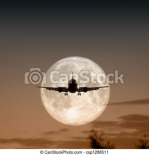 avion air, pleine lune - csp1286511