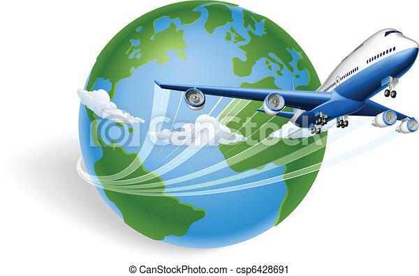 avion, concept, globe - csp6428691