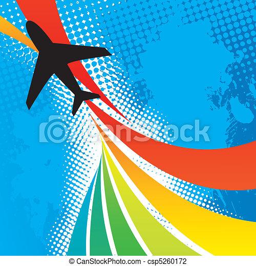 avion, voyage, résumé - csp5260172