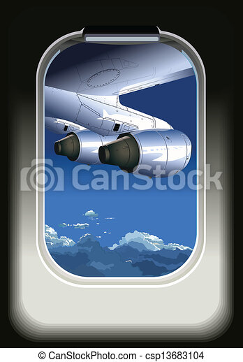 avion, vue - csp13683104