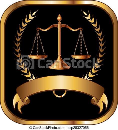 avocat, droit & loi, ou, joint or - csp28327055