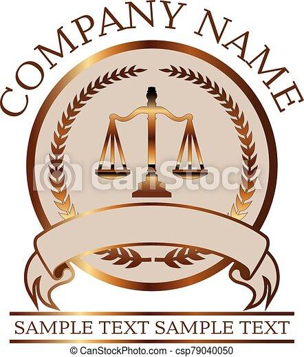 avocat, or, droit & loi, -, justice, balances, ou, cachet - csp79040050