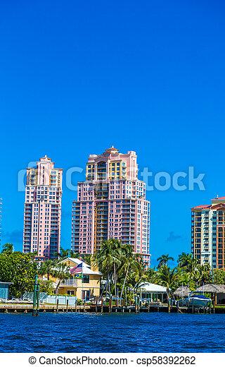 bâtiment, copropriété, côtier - csp58392262