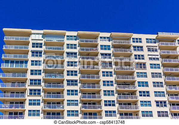 bâtiment, copropriété, côtier - csp58413748