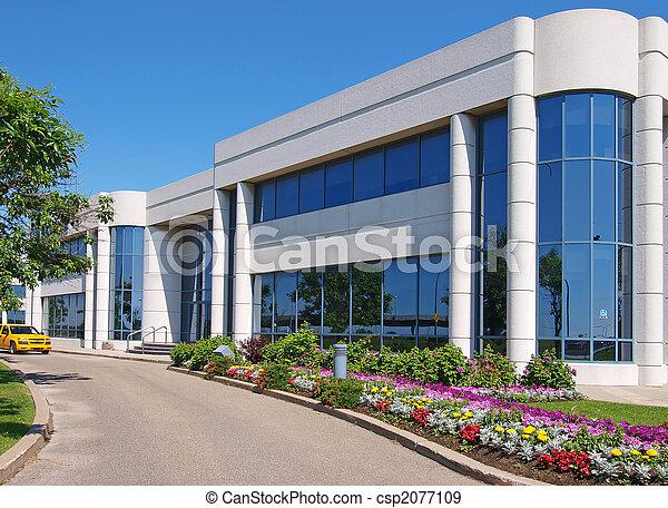 bâtiment, entranceway, parc industriel - csp2077109