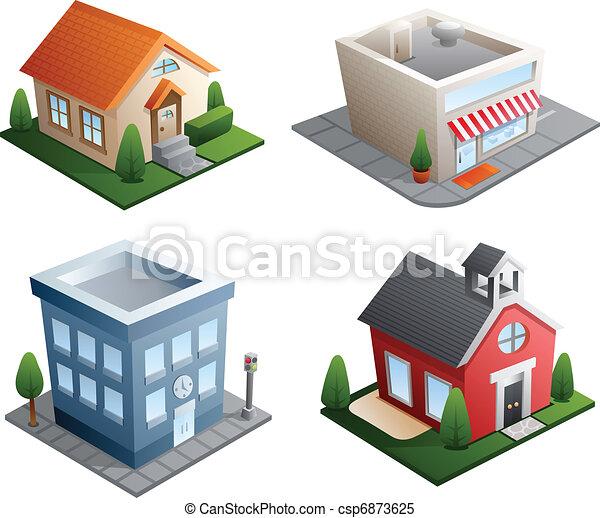 bâtiment, illustrations - csp6873625