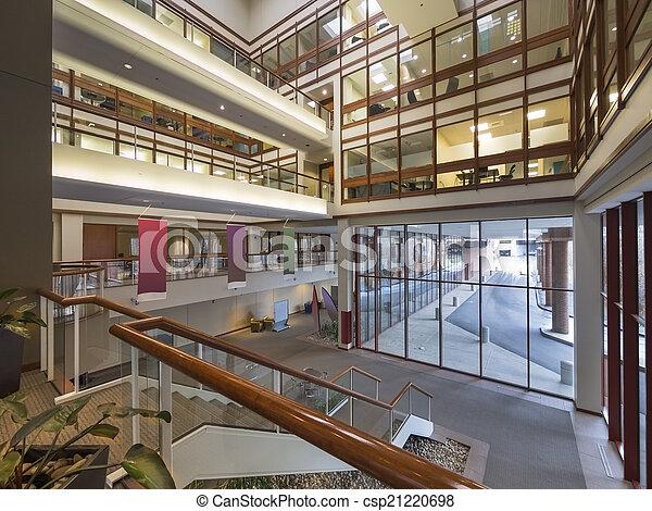 bâtiment, moderne, vestibule, bureau - csp21220698