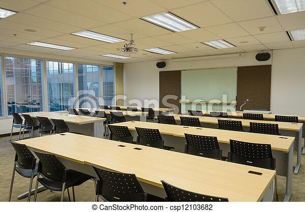 bâtiment, salle entraînement, bureau - csp12103682