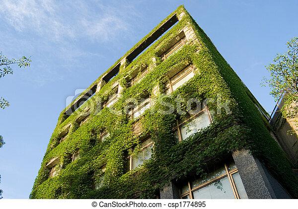 bâtiment, vert - csp1774895