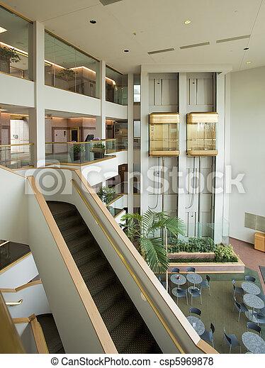 bâtiment, vestibule, bureau - csp5969878