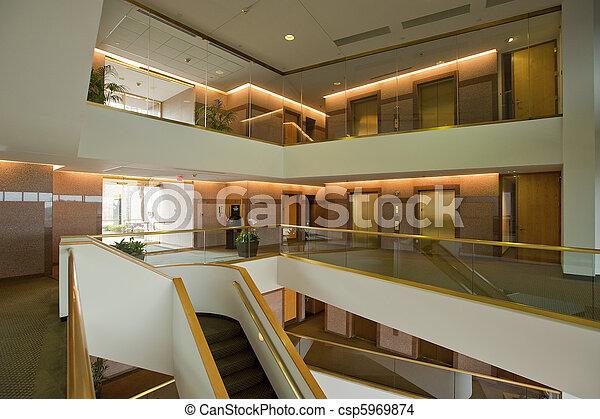 bâtiment, vestibule, bureau - csp5969874