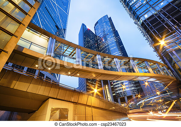 bâtiments bureau, hong kong - csp23467023