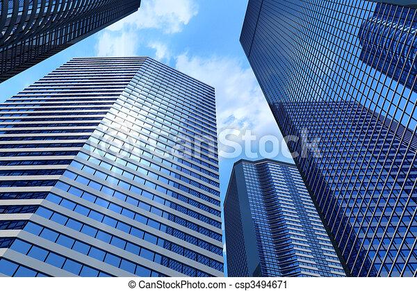 bâtiments, business - csp3494671