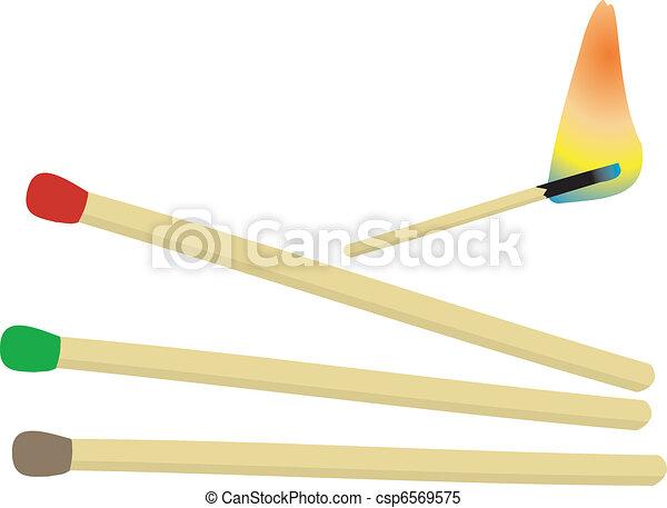 bâtons, allumette - csp6569575