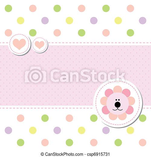 bébé, arrivée, conception, carte, annonce - csp6915731