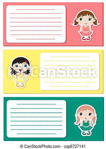 bébé, ballerines, notes4 - csp6727141