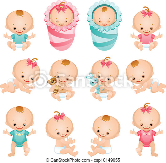 bébé, icônes - csp10149055