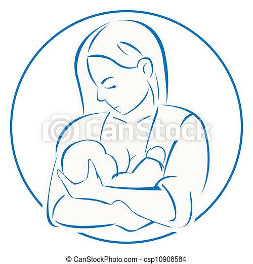 bébé, mère - csp10908584