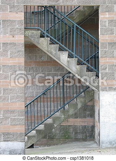 béton, escalier - csp1381018