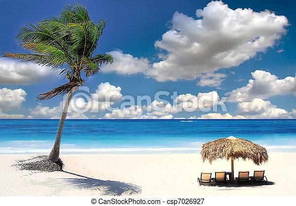 baie, exotique, siam, plage, chang, thaïlande, îles - csp7026927