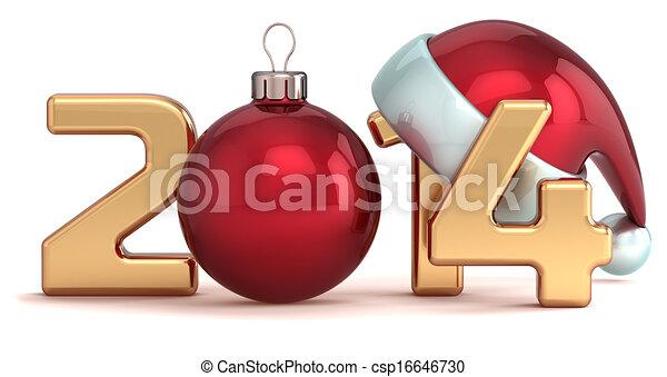 balle, année, nouveau, 2014, noël, heureux - csp16646730
