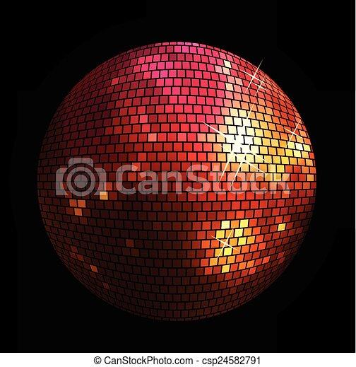 balle, brillant, fond, disco - csp24582791