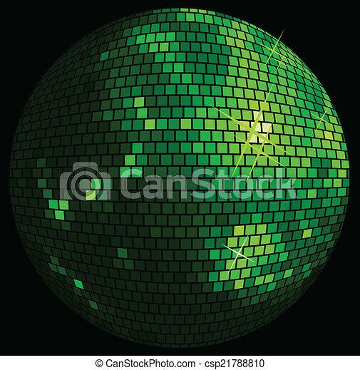 balle, fond, disco - csp21788810