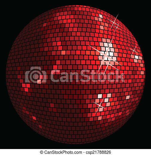 balle, fond, disco - csp21788826