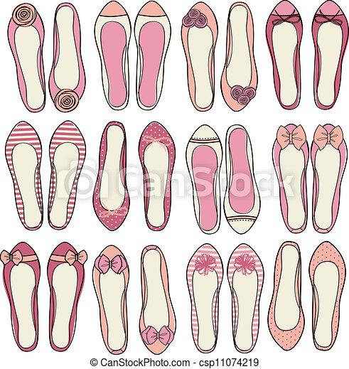 ballerine, chaussures, collection - csp11074219