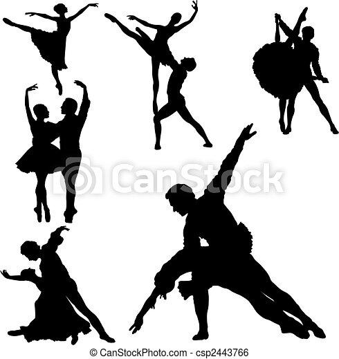 ballet, silhouettes - csp2443766