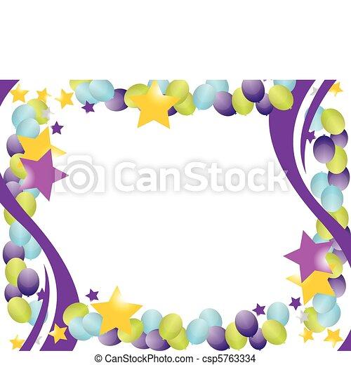 balloon, cadre, célébration - csp5763334
