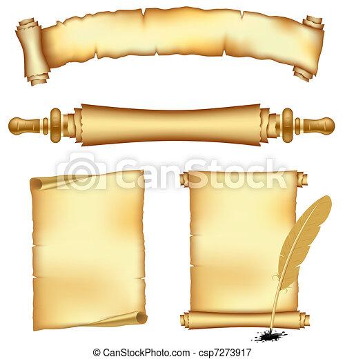 bannières, rouleau, papiers - csp7273917