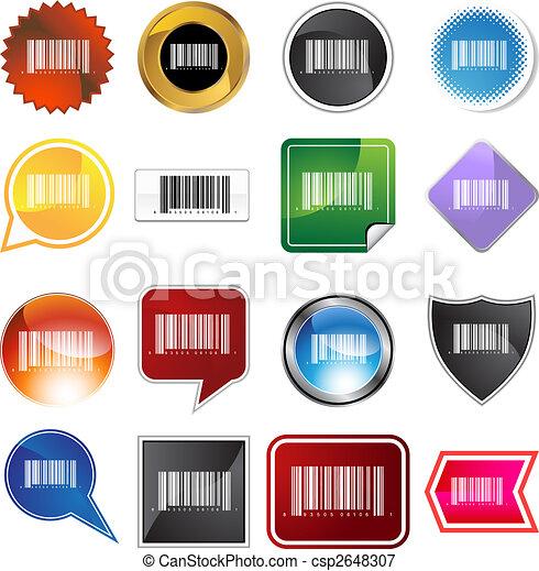 barcode, ensemble, étiquette - csp2648307