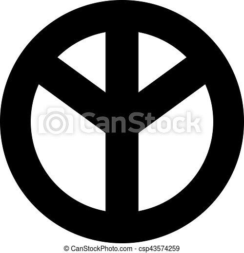 bas, paix, dessus, signe - csp43574259