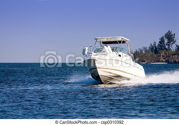 bateau moteur - csp0310392