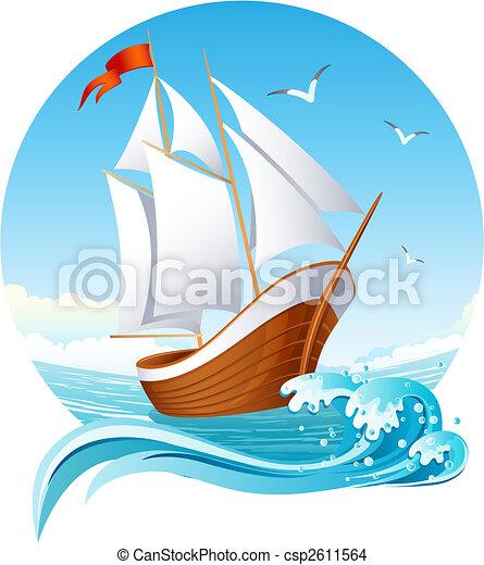 bateau, voile - csp2611564